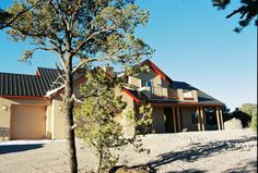 Exterior Custom Home Views - Lee Michael Homes Custom Builders in Albuquerque NM New Mexico Style, Santa Fe Style, Custom Builders, Building Plans, Custom Homes, Exterior, Cabin, House Styles, Mountain