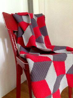 tuto de la Vasalery Blanket (http://leblogpurple.com/2013/03/24/crochet-along-un-plaid-a-la-maniere-de-vasarely/tuto-a-telecharger-cal-vasarely-blanket/)