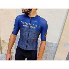 "rocket-espresso: ""Our friends at @espressomafia are releasing for public sale the Espresso Mafia  Rocket Espresso ⚪️ PereQuera1887 jersey! As well as the original white jersey a cool new blue version..."
