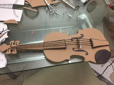 Cardboard violin tutorial we made one toddler crafts find this pin and more on by ccuart Image collections
