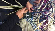 Patiki 3 Pattern, No. 1 on Vimeo Flax Weaving, Basket Weaving, Maori Designs, Island Design, Weaving Techniques, Pattern Design, Projects To Try, Tapestry, Creative