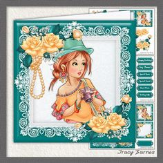 Say Cheese Mini Kit on Craftsuprint designed by Tracy Barnes -  Includes 8x8 topper and gift tags, Insert sheet and various sentiment tags, decoupage sheet and gift card and tag.Suitable for any female birthday and mother's day. - Now available for download!