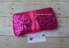 READY TO SHIP Hot Pink Sequin Fuchsia Pink by LauraLeeDesigns108