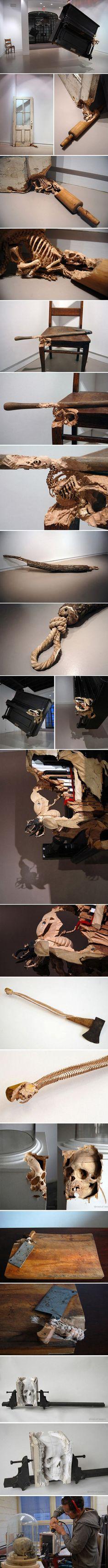Spectacular Sculptural Wood Carving Work