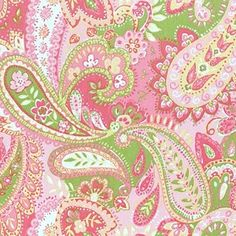 Love a preppy paisley pattern ---> green & pink