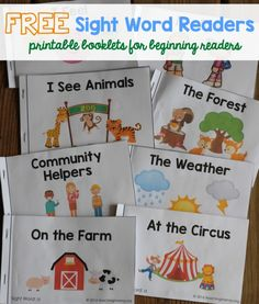 TON of sight word readers for FREE! Great for beginning readers! Free Sight Word Readers - printable booklets that focus on sight words for beginning readers!Free Sight Word Readers - printable booklets that focus on sight words for beginning readers! Preschool Sight Words, Teaching Sight Words, Sight Word Practice, Kindergarten Literacy, Preschool Learning, Literacy Activities, Kindergarten Sight Words Printable, Literacy Centers, Sight Word Readers