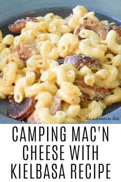 Camping Mac n cheese with Kielbasa is baked with sliced Kielbasa sausages! This makes the perfect warming weeknight supper. This camping mac n cheese with Kielbasa recipe is guaranteed to make the kid Easy Casserole Recipes, Pasta Recipes, Dinner Recipes, Cooking Recipes, Smoked Sausage Recipes, Keilbasa Sausage Recipes, Recipes With Kielbasa, Pasta Dishes, Food Dishes