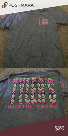 Tyler's grey short sleeve Grey with chevron accent Tyler's tshirt Tops Tees - Short Sleeve
