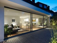 Sliding glass facade - beautiful windows