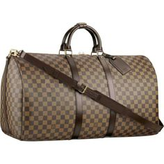 Louis Vuitton Damier Ebene Keepall 55 With Shoulder Strap, if someone bought me this I would love them forever. R423.61. Right click and open in new tab, will pay for half of this bag that is how much I want it!!! https://www.ioffer.com/i/n41414-womens-55cm-duffle-luggage-travel-bags-572333684