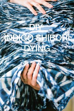 DIY Indigo Shibori Dying http://sulia.com/my_thoughts/779a053d-46f6-4f04-a359-39aedfbef95b/?source=pin&action=share&btn=big&form_factor=desktop&sharer_id=0&is_sharer_author=false