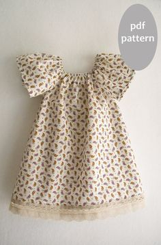 Peasant Girl Dress Pattern Tutorial/ Toddler dress by KokoPattern