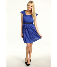 BCBGeneration Pleat Front Ruffle Dress