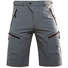 Hiauspor Mens MTB Shorts Mountain Bike Shorts Water Repellent Baggy Half Pants with Pockets for Cycling Riding Mens Bike Shorts, Mtb Shorts, Bike Pants, Hiking Shorts, Camo Shorts, Cycling Shorts, Cycling Outfit, Mens Mountain Bike, Moda Masculina