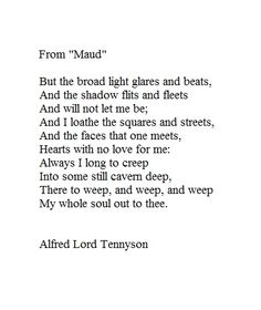 Maud - Alfred Lord Tennyson