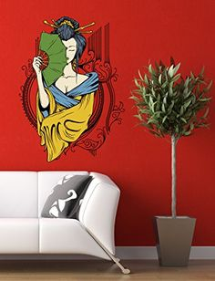 Wall Stickers Murals, Wall Decal Sticker, Easy Wall, Living Room Bedroom, Wall Colors, Fan, Wall Art, Interior Design, Amazon