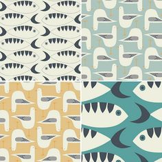 fish and seagull fabric