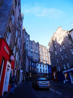 Victoria Street in Edinburgh, Scotland - this street inspired Diagon Alley in Harry Potter!