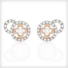 a15f5a9d1 Catherine Budd Lumière Diamond Stud Earrings- http://www.cottonandgems.com. Rose  Gold ...