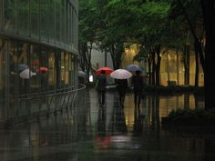 rainy day at Tokyo International Forum
