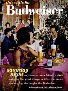 Where there s life...there s Bud budweiser ad 1960s Retro Ads 7b2f1a3dfc73