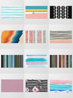 Society6 Striped Rugs - Available in three different sizes, our Rugs are the perfect accent for any room.
