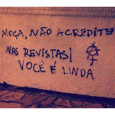 Araraquara, SP. Foto enviada por Carol Pugliesi #olheosmuros #artederua #arteurbana #picho #feminism #feminismo #PoesiaDeRua #sp #araraquara http://ift.tt/1F23HwC