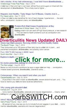 ♥ Diverticulitis diet recipes symptoms foods treatment pictures surgery causes ♥ low carb no carb Recipes, Infographics & DAILY nutritional science news #carbswitch carbswitch.com Please Repin