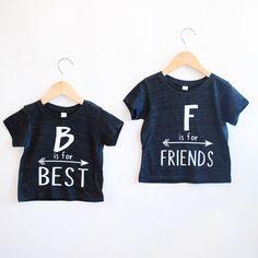 Best Friends Tee -Inspirational Alphabet - Child t-shirt - tee - raglan - toddler, baby, infant - American Apparel by blueenvelope on Etsy https://www.etsy.com/listing/221238209/best-friends-tee-inspirational-alphabet