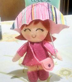 Eu Amo Artesanato: Boneca com guarda-chuva com molde