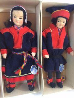 Norske Dukker Ronnaug Petterssen Norway 2 Doll Lot Karasjok Lappekone Lappemann #DollswithClothingAccessories