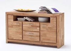 Sideboard Santos Kommode Asteiche massiv 8214. Buy now at https://www.moebel-wohnbar.de/sideboard-eiche-massiv-santos-kommode-holz-asteiche-geoelt-8214.html
