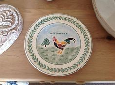 Emma Bridgewater Welsummer Hen 8.5 inch plate (Made for National Trust in 1990s)