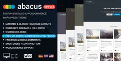 Abacus - Responsive Blog & Shop Theme