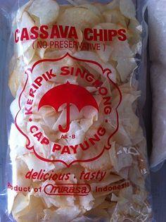 Tapioca (=cassava) chips from Toko