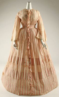 Dress ca. 1850 via The Costume Institute of the Metropolitan Museum of Art