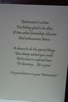 Retirement Greeting Card Greeting