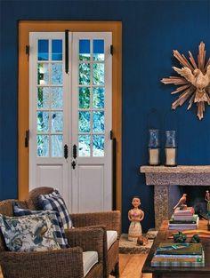 imagem (5) Cozy Living Rooms, Living Room Decor, Interior Decorating, Interior Design, Style Tile, Creative Decor, Ideal Home, Country Decor, Sweet Home