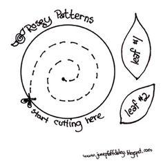 DIY Felt or Paper Flowers-quilled roses Flower Crafts, Diy Flowers, Handmade Flowers, Fabric Flowers, Paper Flowers, Felt Flowers Patterns, Felt Patterns, Quilling Patterns, Felt Flower Template