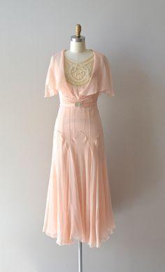 silk 1920s dress / vintage 20s dress / Doucement silk chiffon dress