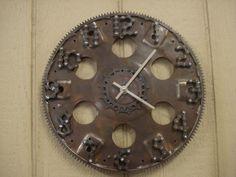 flywheel and bicycle parts clock