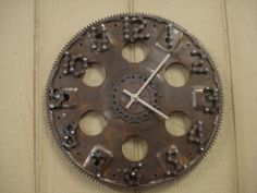 flywheel and bicycle parts clock
