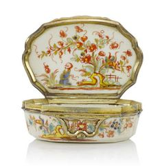 18th century Chinoiserie Saint Cloud snuff boxes from the Helmut Joseph Collection