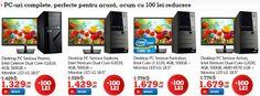 100 de lei reducere la PC-uri complete Sistem Desktop Serioux + Monitor LED LG 18.5″