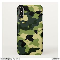 Camouflage iPhone X Case New Phones, Business Supplies, Party Hats, Camouflage, Compliments, Apple Iphone, Art Pieces, Iphone Cases, Pattern