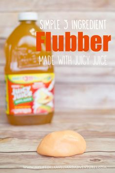 Simple 3 Ingredient Flubber | #Sensory #Flubber #Playdough #ad
