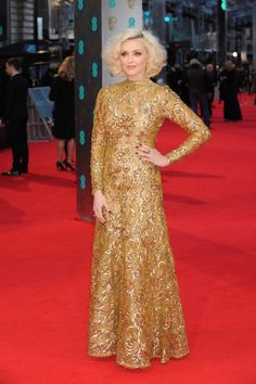 Fearne Cotton wears William Balmain on the red carpet