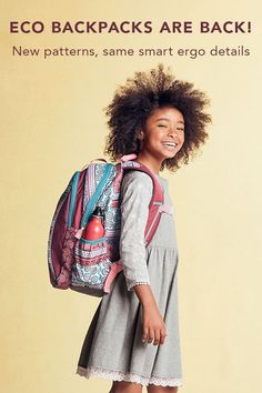 As the calendar moves closer to Back to School, whatever that may look like this year, moms and dads are already thinking about getting ready. The Eco Backpack Collection is ready too! And it's full of smart details. Kids Backpacks, Mom And Dad, Cool Kids, Closer, Back To School, Kids Fashion, Dads, Calendar, Collection