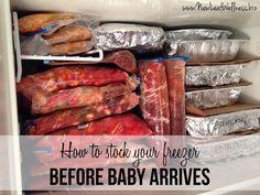 Twenty-seven pre-baby freezer meals, plus links to many of the recipes.