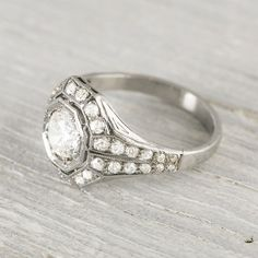 Antique .78 Carat Diamond Engagement Ring by ErstwhileJewelry
